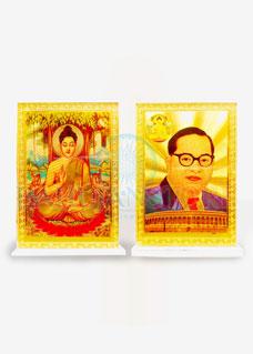 Lord Buddha & Babasaheb Premium Quality Decore