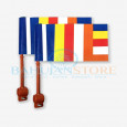 Panchsheel Flag for Bike (Pack of 2 Flags)