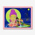 Buddha Upashna Big Poster 22x17 Inches